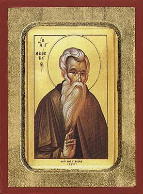 Saint Theoktistos - Hand-Painted Icon