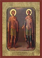 Saint Tiron & Sratilatis - Hand-Painted Icon