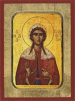 Saint Xanthippe - Hand-Painted Icon