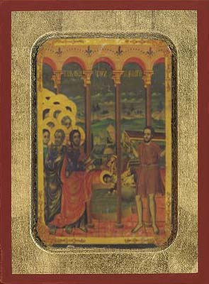 Sunday of paralytic - Hand-Painted Icon