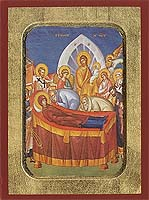 The Dormition of the Virgin - Hand-Painted Icon