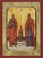 The Holy Forefathers Joachim and Anne - Hand-Painted Icon