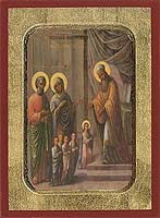 The Presentation of the Virgin in the Temple - Hand-Painted Icon
