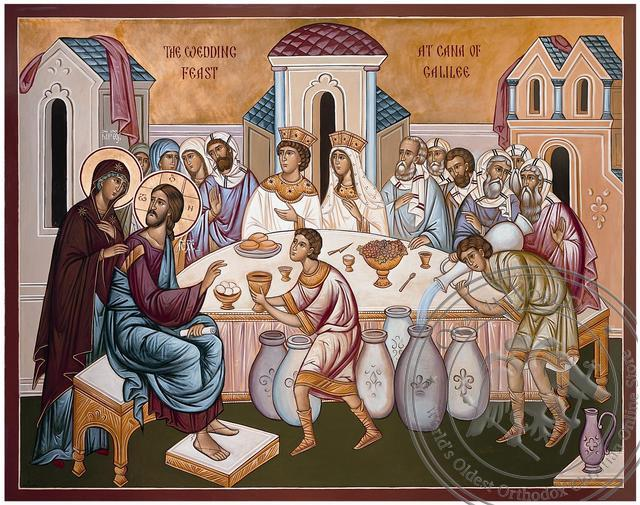 The Wedding at Cana - Hand-Painted Icon
