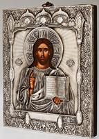 Christ Pantocrator - Handmade Metal Icon
