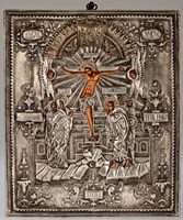 Crucifixion of Jesus Christ - Handmade Metal Icon