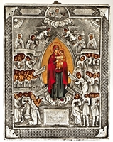 Holy Virgin of Joy of All Who Sorrow - Handmade Metal Icon