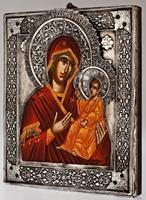 Holy Virgin of Smolensk - Handmade Metal Icon