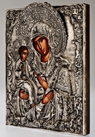 Holy Virgin of Three Hands - Handmade Metal Icon