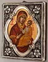 Mother of God the Giatrissa - Handmade Metal Icon
