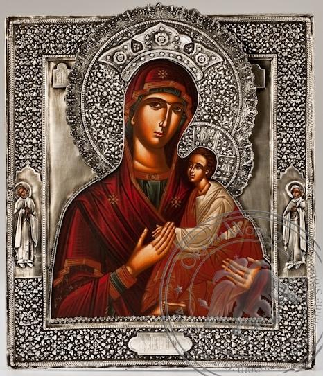 Our Lady of Pechersk (Svenskaya) - Handmade Metal Icon