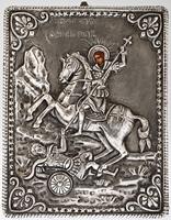 Saint Demetrius the Great Martyr - Handmade Metal Icon