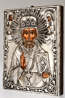 Saint Nicholas the Wonderworker - Handmade Metal Icon