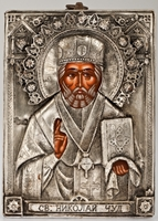 Saint Nicholas the Wonderworker - Handmade Metal Icon