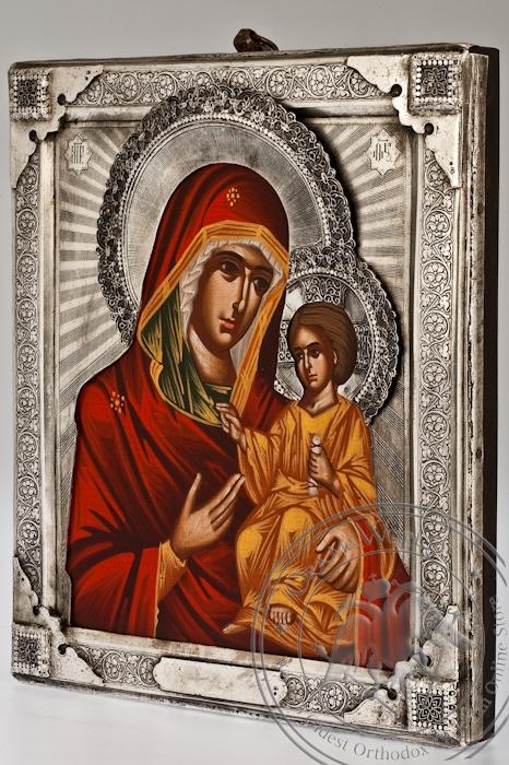 The Holy Virgin Hodegetria - Handmade Metal Icon