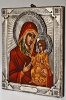 The Holy Virgin Hodegetria - Handmade Metal Icon