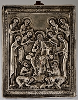 The Lord and the 12 Apostles - Handmade Metal Icon