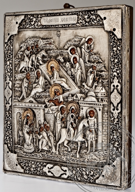 The Nativity of the Christ - Handmade Metal Icon
