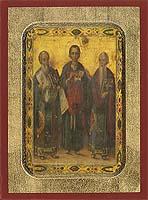 Saint Antipas,Panteleimon,Charalambos - Byzantine Icon