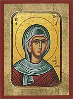 Saint Ifigenia - Byzantine Icon