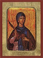 Saint Matrona - Byzantine Icon