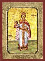 Saint Theodora the Empress of Byzantium - Byzantine Icon