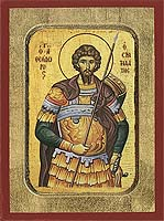 Saint Theodore the Stratelates - Byzantine Icon