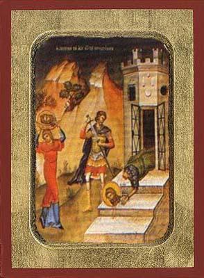 The Beheading of the St.John the Baptist - Byzantine Icon