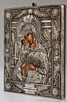 The Holy Virgin Mary 'Axion Esti' - Handmade Metal Icon