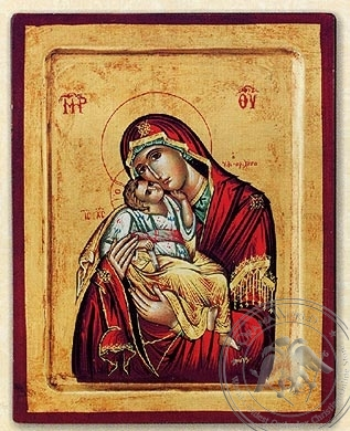 Silk Printed Byzantine Icon, Meteora
