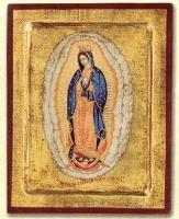 Panagia Gouandeloupe - Engraved Silk Printed Icon