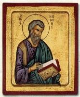 Matheos the Evangelist - Engraved Silk Printed Icon