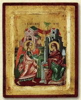 The Annunciation - Engraved Silk Printed Icon