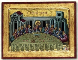 Last Supper - Engraved Silk Printed Icon