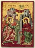 The Annunciation - Flat Silk Printed Icon