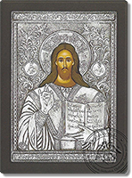 Christ Blessing - Silver Icon