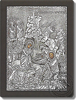 The Nativity of Christ - Silver Icon