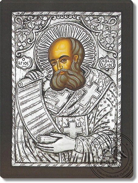 Athanasius the Great - Silver Icon