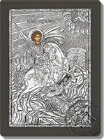 George on Horseback - Silver Icon