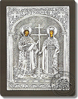 Constantine and Helen - Silver Icon