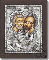 Peter and Paul the Apostles - Silver Icon