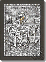 Symeon the Theologian - Silver Icon