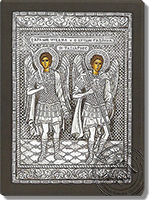 Michael and Gabriel the Holy Archangels - Silver Icon