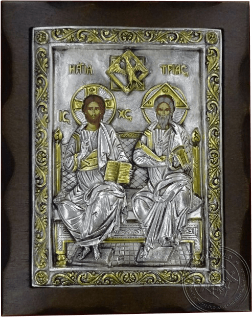Holy Trinity - Silver Gold Plated Icon
