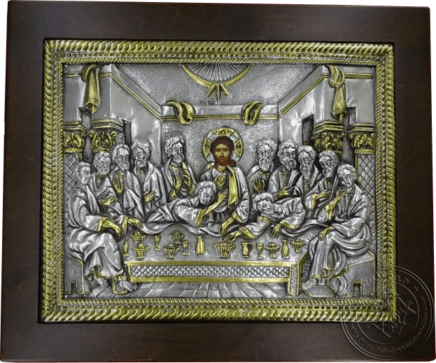 Last Supper - Silver Gold Plated Icon