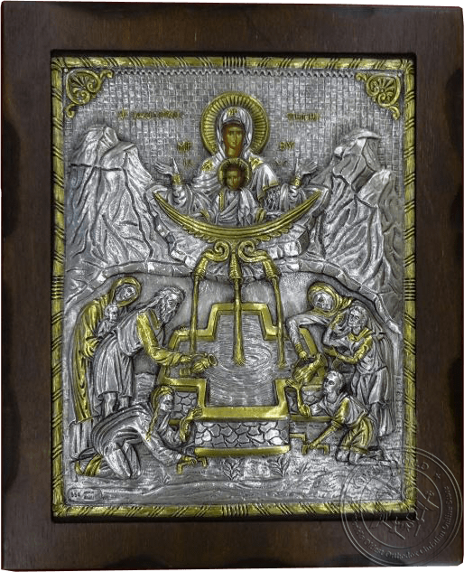 Life-giving Spring - Silver Gold Plated Icon
