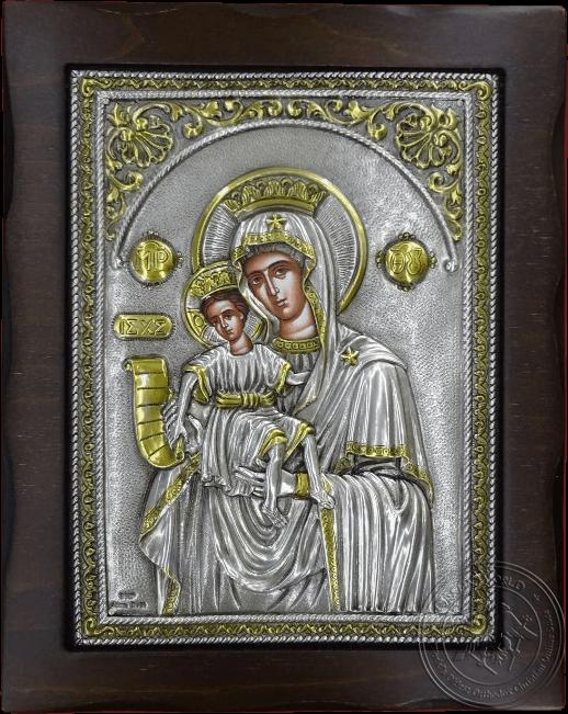 Panagia Amolyntos - Silver Gold Plated Icon