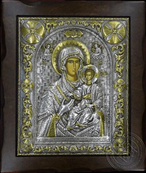 Panagia Hodegetria - Silver Gold Plated Icon