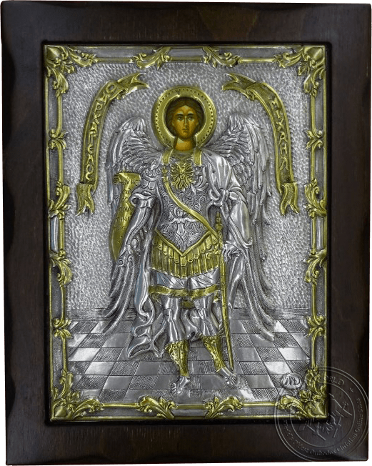 Saint Archangel Michael - Silver Gold Plated Icon