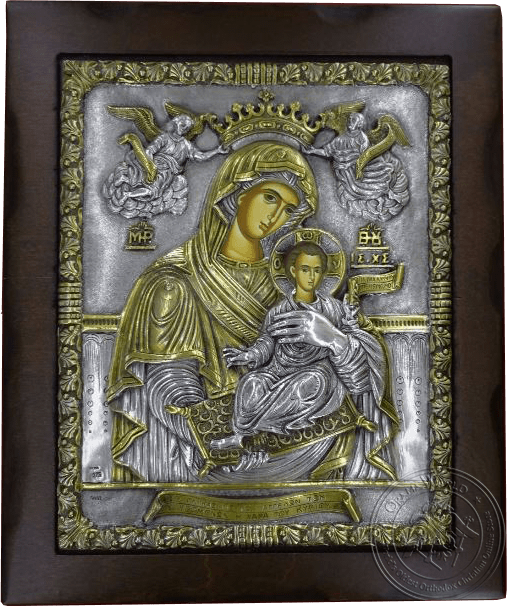 Sweetness of Angels - Silver Gold Plated Icon